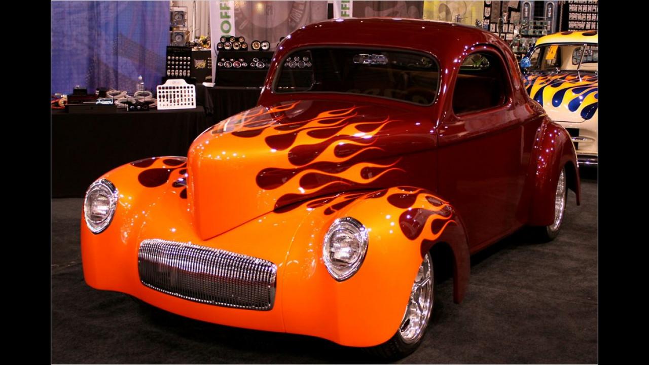 Hot Rod mit Flammendekor