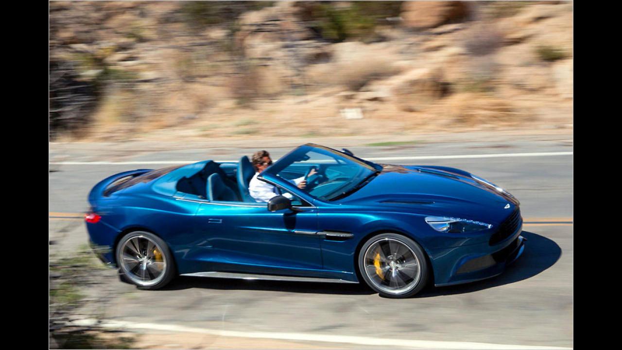 Aston Martin Vanquish Volante (14 Sekunden, bis 45 km/h)