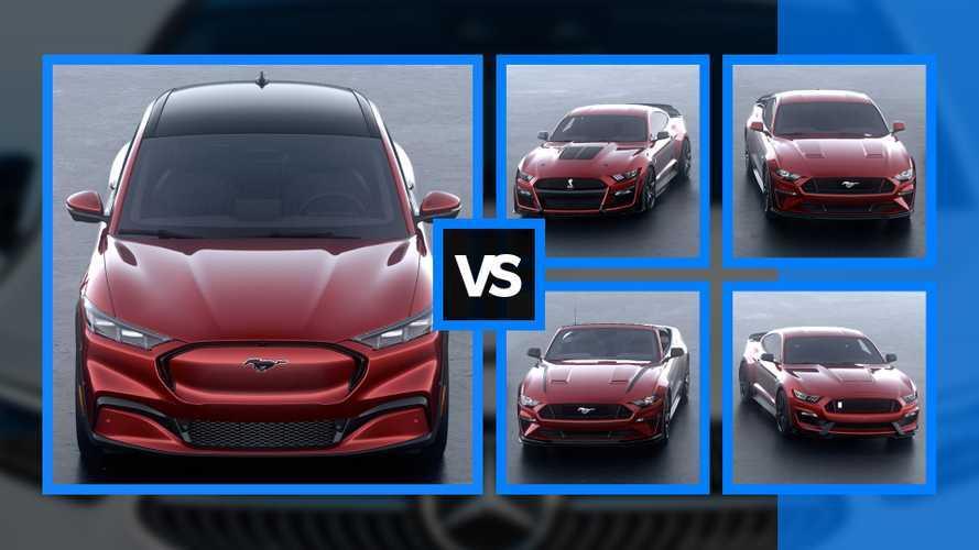 La Ford Mustang Mach-E contro le altre Mustang