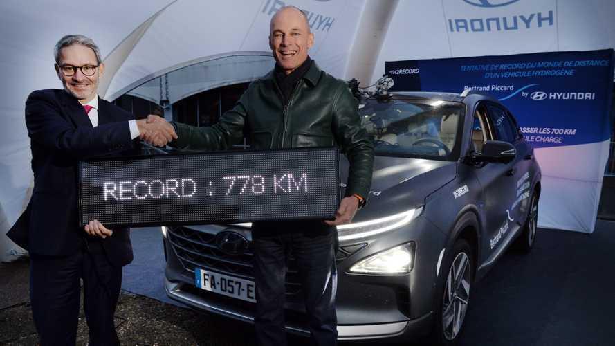 Auto a idrogeno, record di autonomia per la Hyundai Nexo