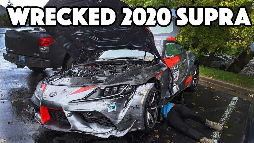 Have A Closer Look At The First Crashed 2020 Toyota Supra