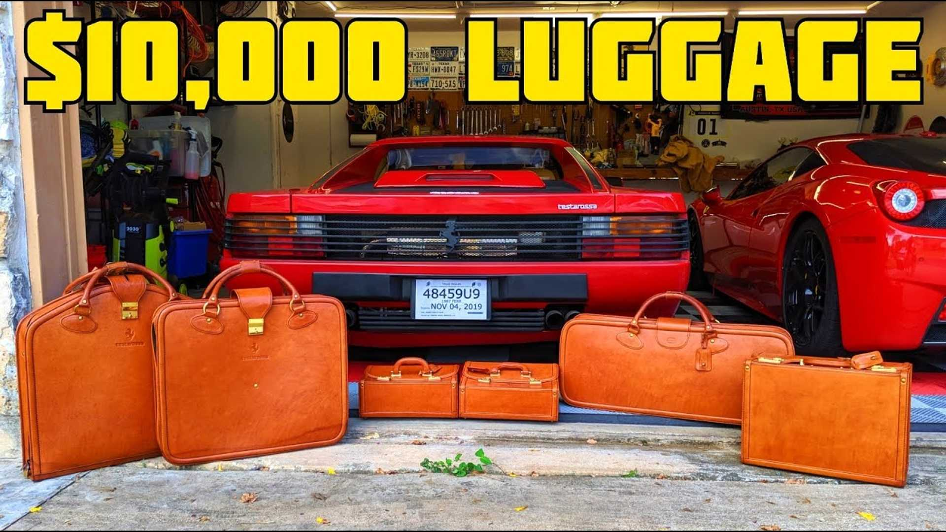 Ever see the Ferrari Testarossa's original $10,000 luggage set?