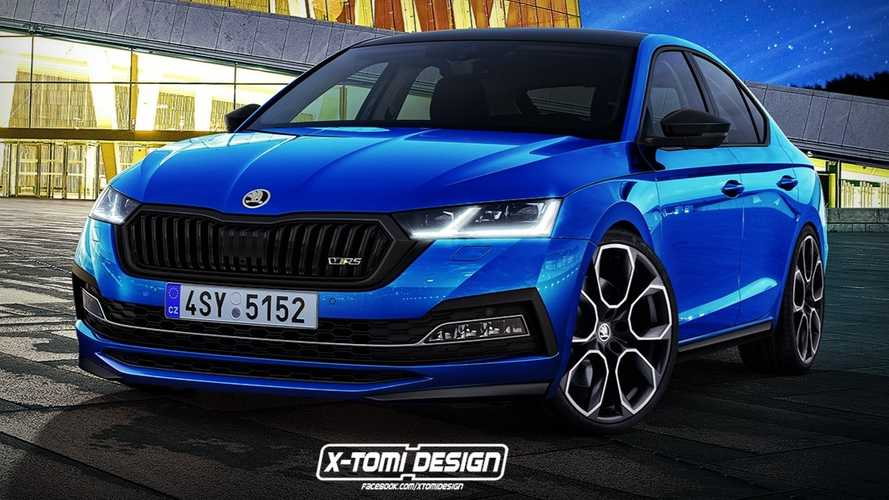 Skoda Octavia RS rendered to spice up the roomy liftback