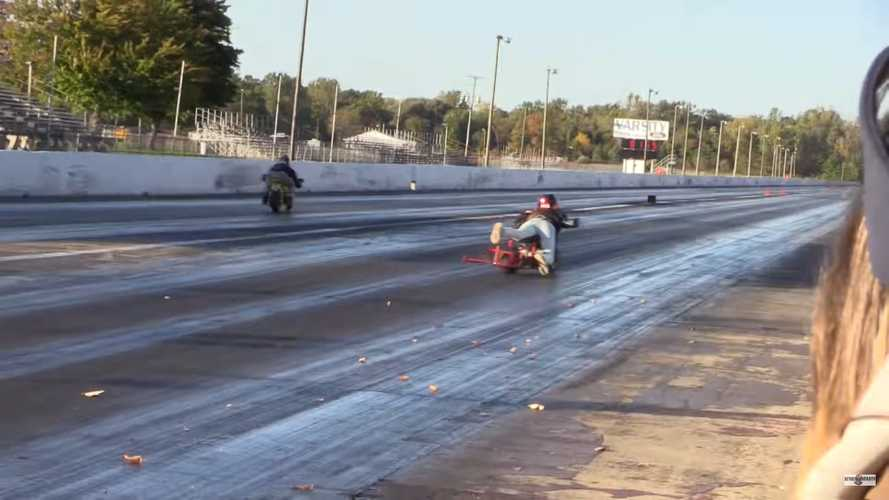 Drag Racing Pit Bikes Is Exactly As Much Fun As You'd Expect