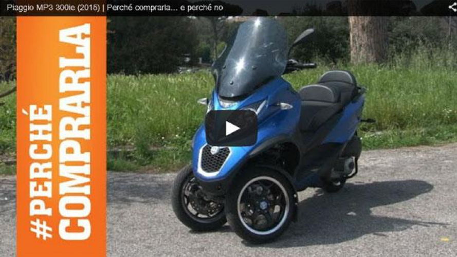 Piaggio MP3 300ie (2015): perché comprarla... e perché no [VIDEO]
