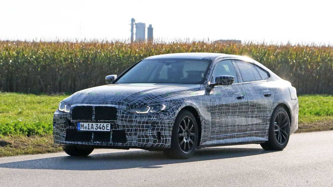 BMW i4 prototype spy photos