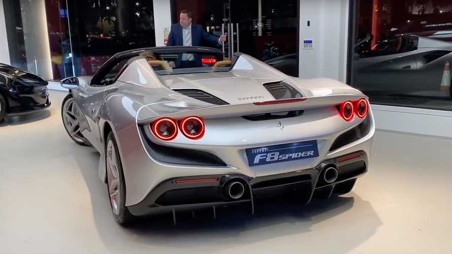 Ferrari F8 Spider looks right at home at high-end London dealer