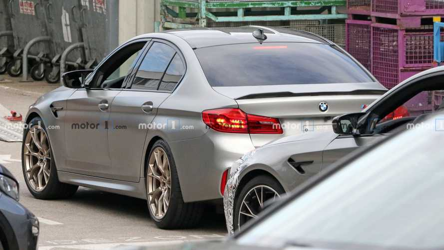 BMW M5 CS photos espions
