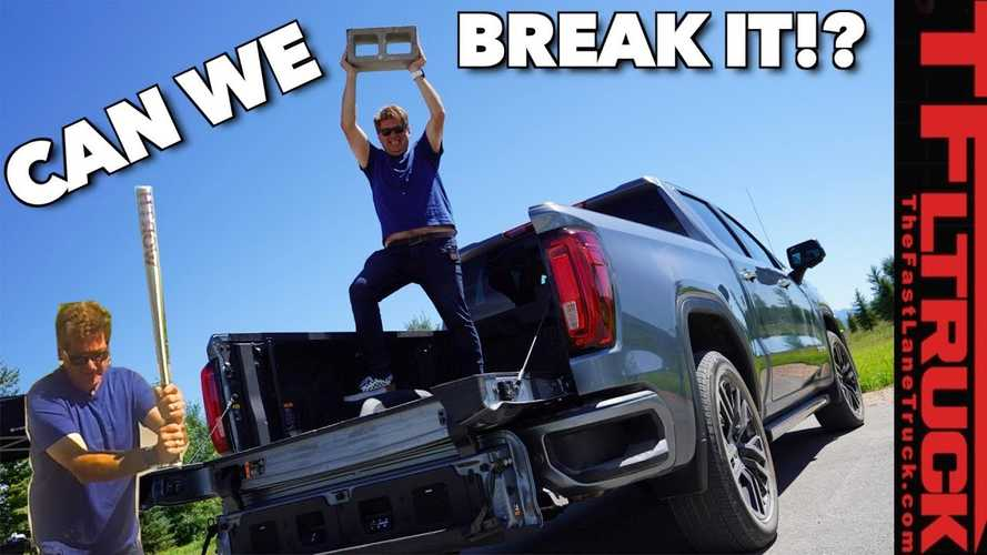 Watch GMC Sierra CarbonPro Pickup Bed Take A Vicious Beating