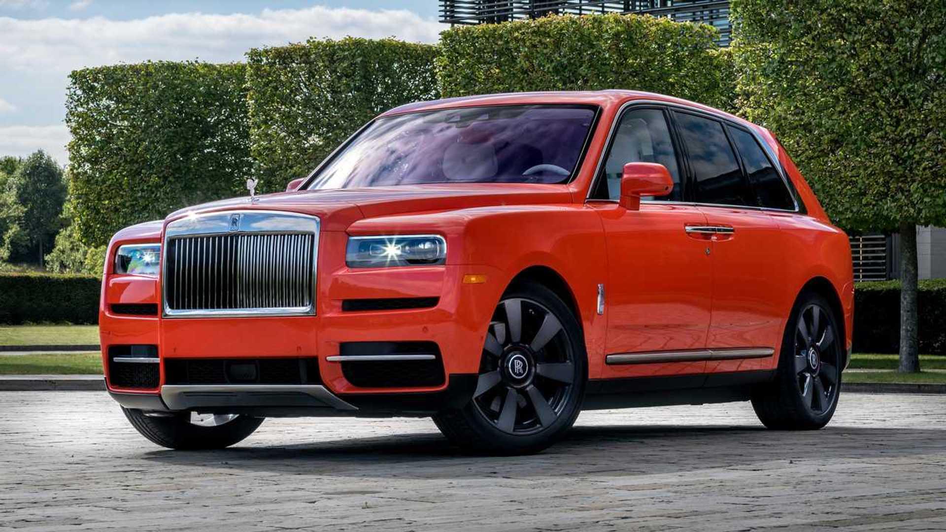 Guy Owns 10 Rolls Royce Bespoke Colors Including Orange Cullinan