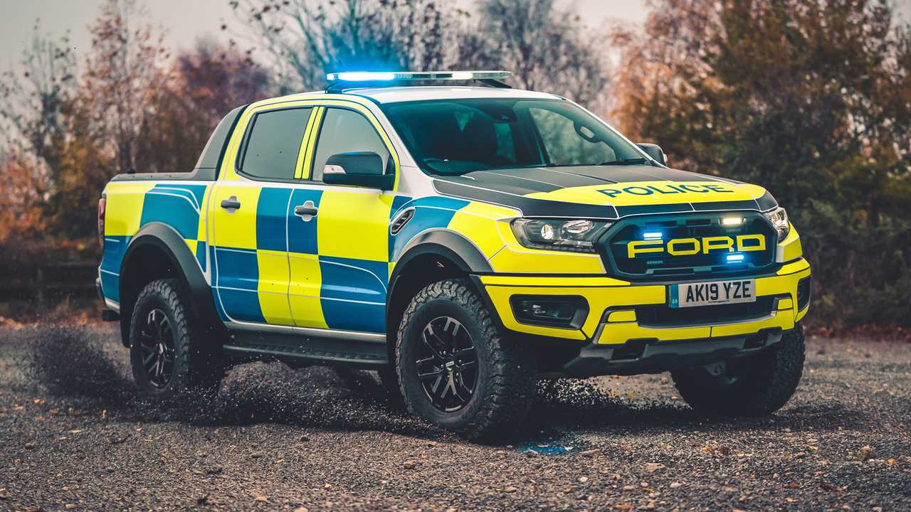 Ford Ranger Raptor UK police car
