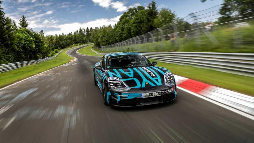 Porsche Taycan, record al Ring per la berlina elettrica