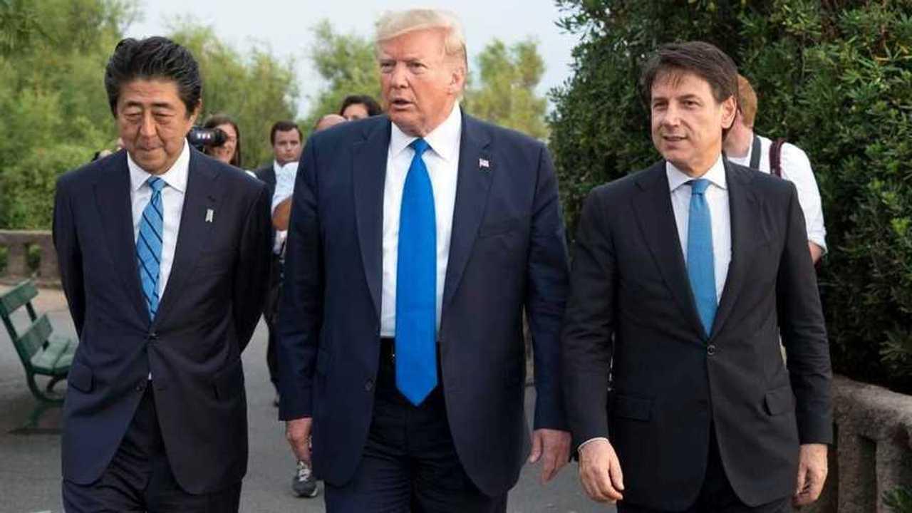 Trump e Conte al G7 Biarritz