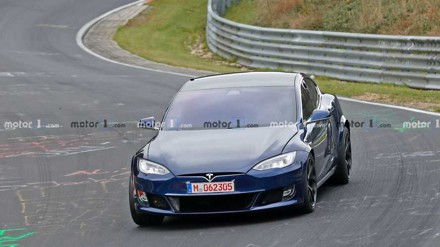 Updated Tesla Model S Plaid spied at Nurburgring