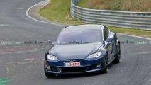 Updated Tesla Model S Plaid spied at Nurburgring