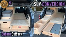 subaru outback camper conversion video