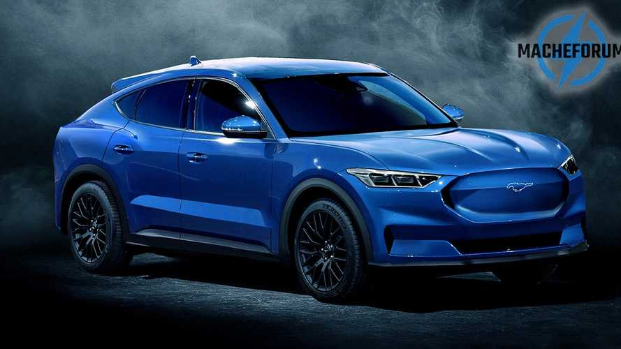 Ford Mustang-Inspired Electric Crossover SUV Rendered