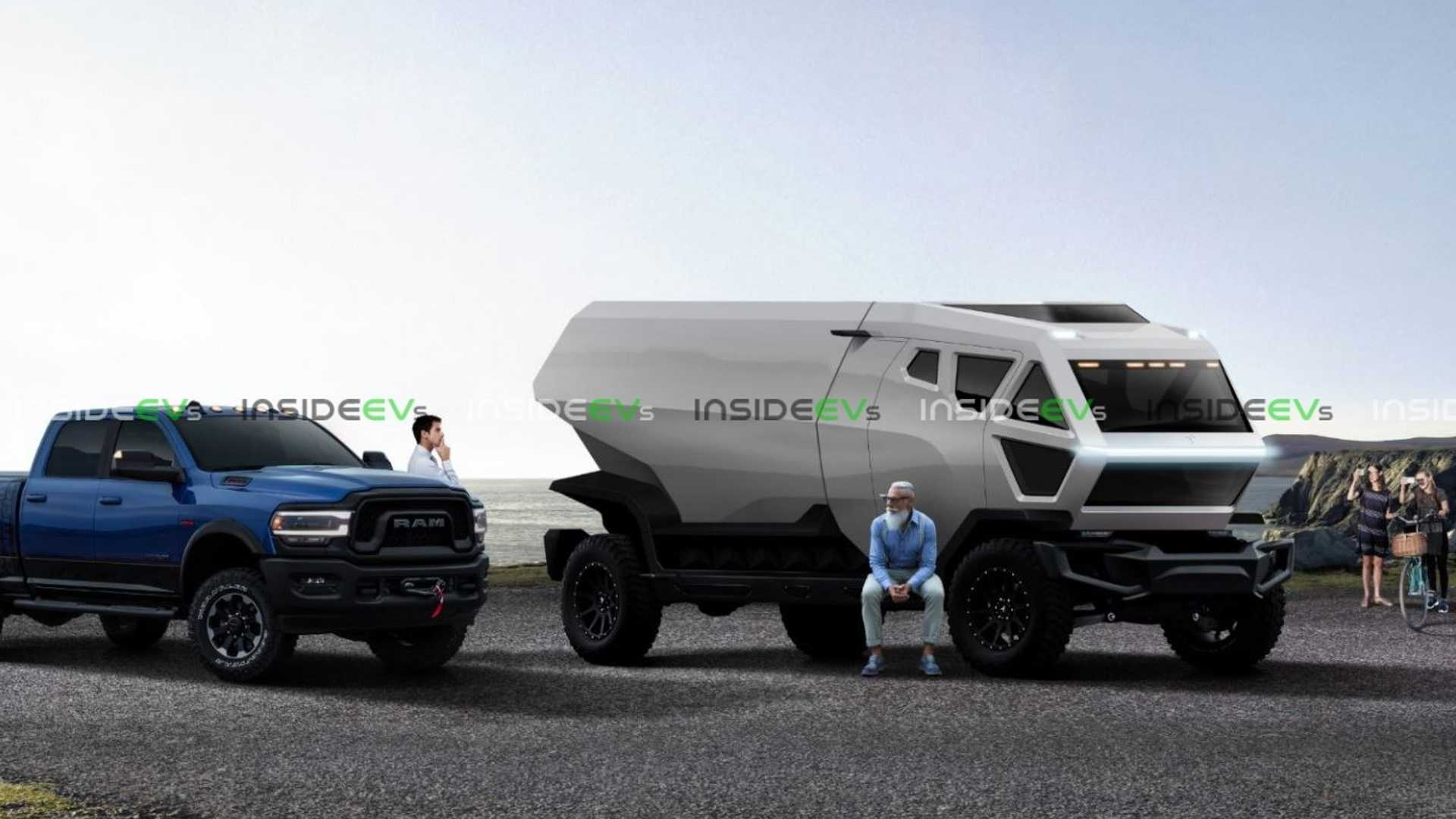 2018 - [Tesla] Pick-up  - Page 3 Tesla-truck-render-with-ram