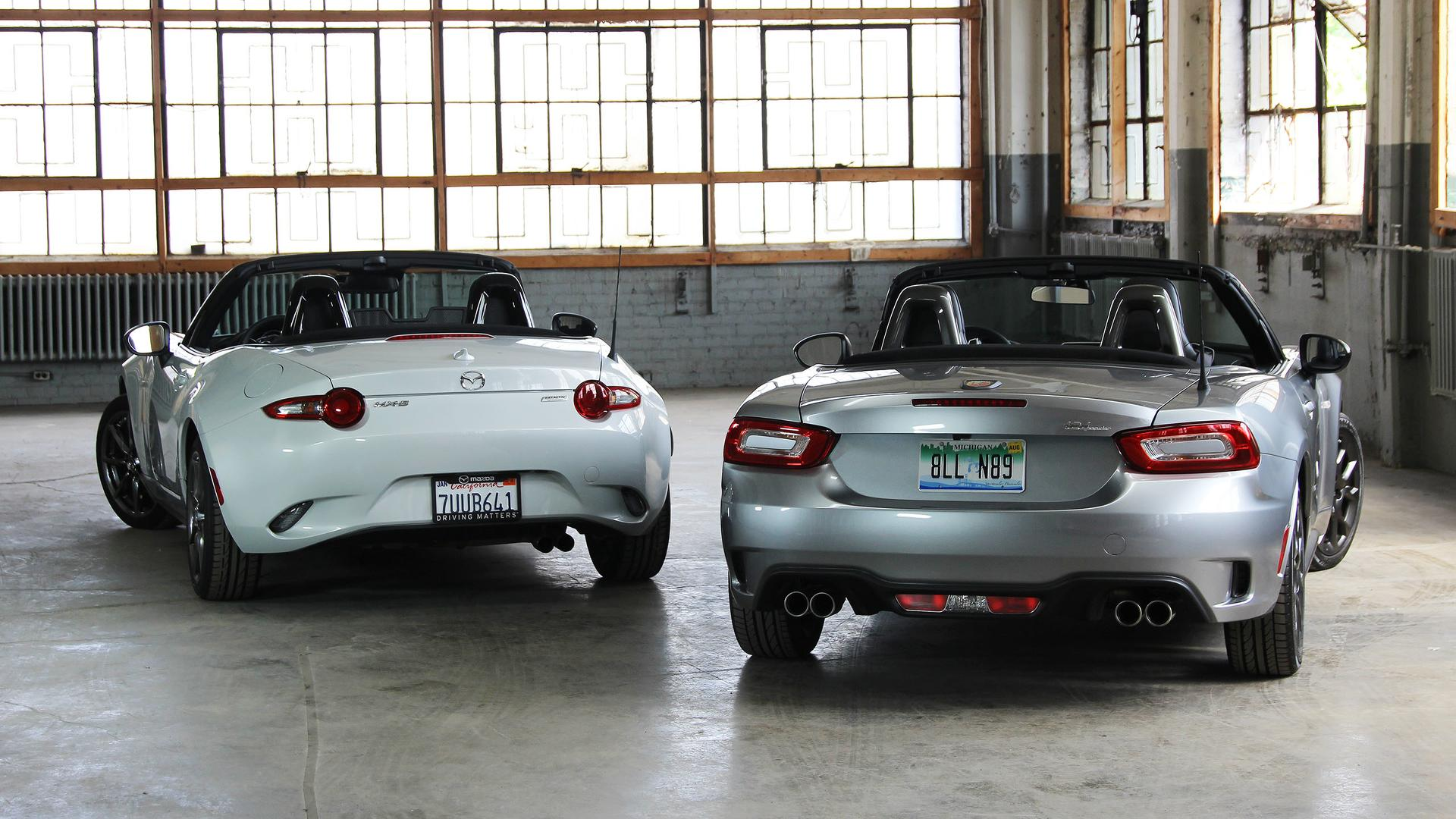 Fiat 124 Spider Vs Mazda Mx 5 Miata Sibling Rivalry
