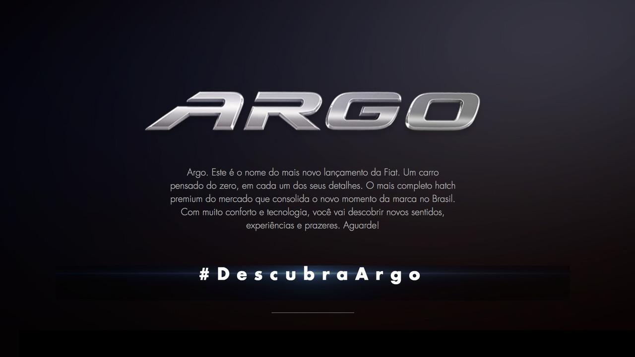 Teaser do Fiat Argo