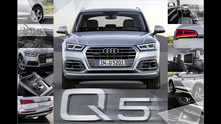 Technik des Audi Q5 (2016): Motoren, Luftfederung, Assistenten