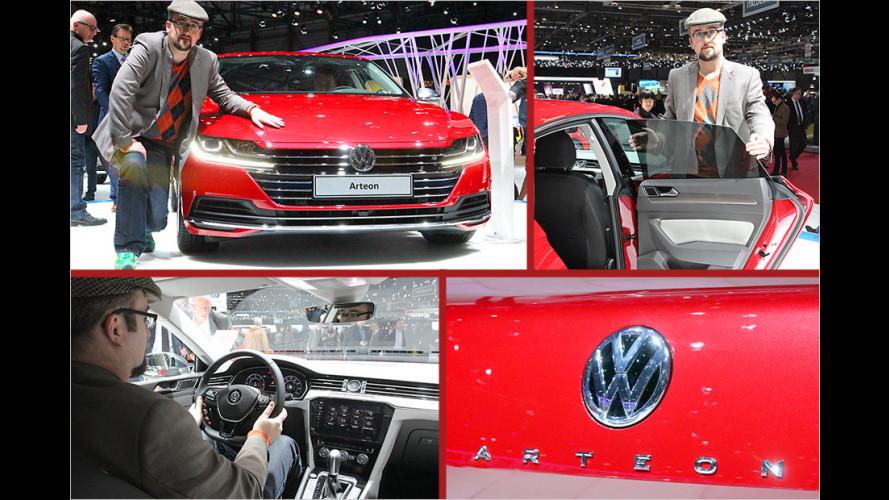 Sitzprobe im neuen VW Arteon