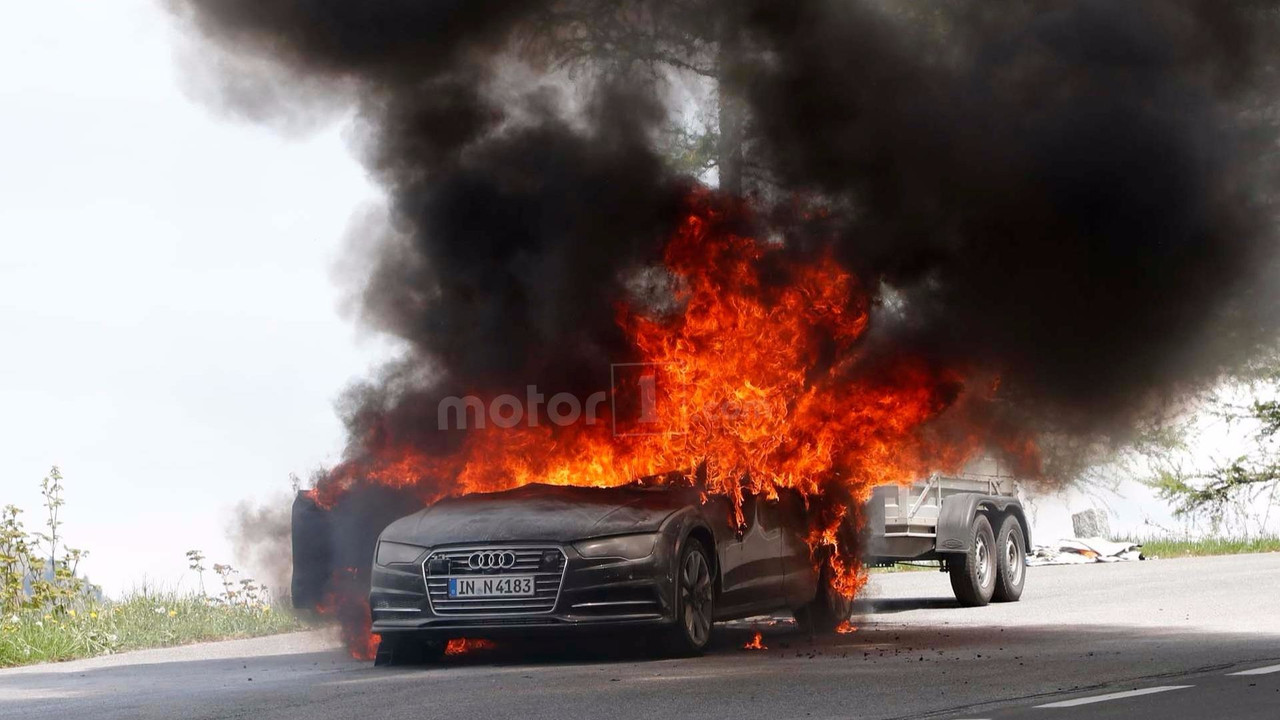 2019 Audi A7 test aracı yangını