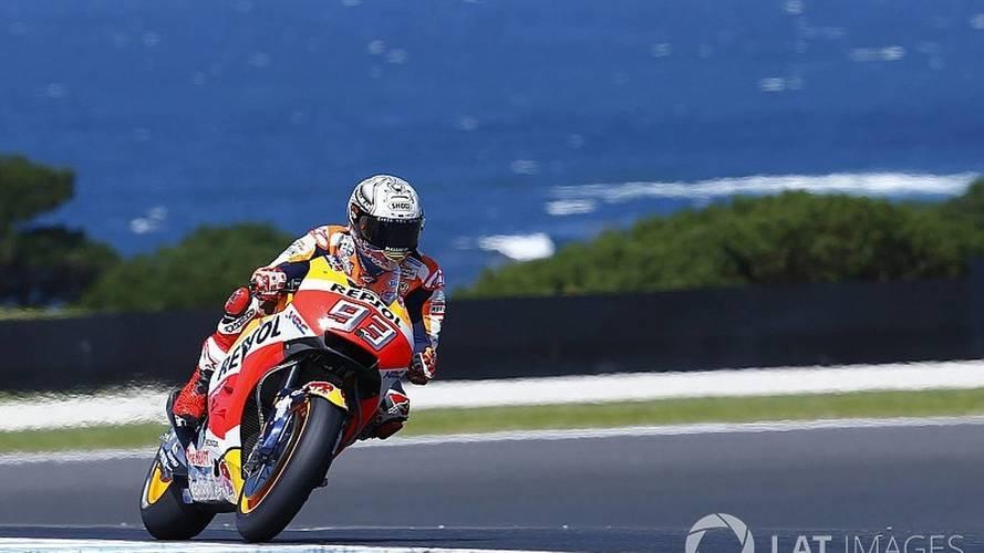 MotoGP - Márquez domina treino e crava pole na Austrália; Dovi é 11º