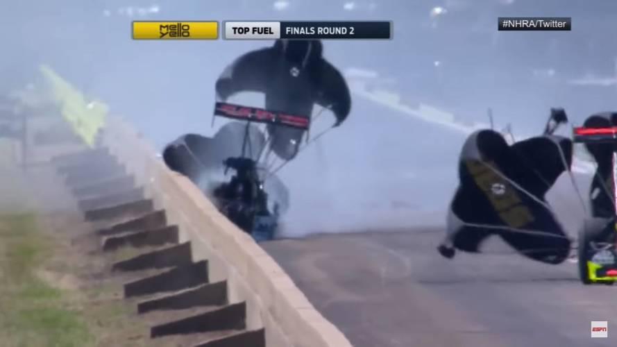480 km/órás tempóval csapódott a falnak egy dragster Texasban