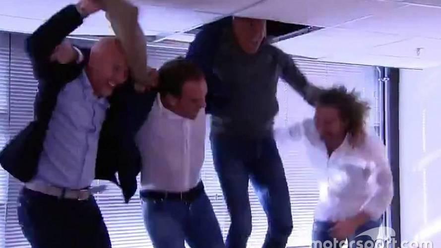 Vídeo - Comentaristas quebram teto em vitória de Verstappen