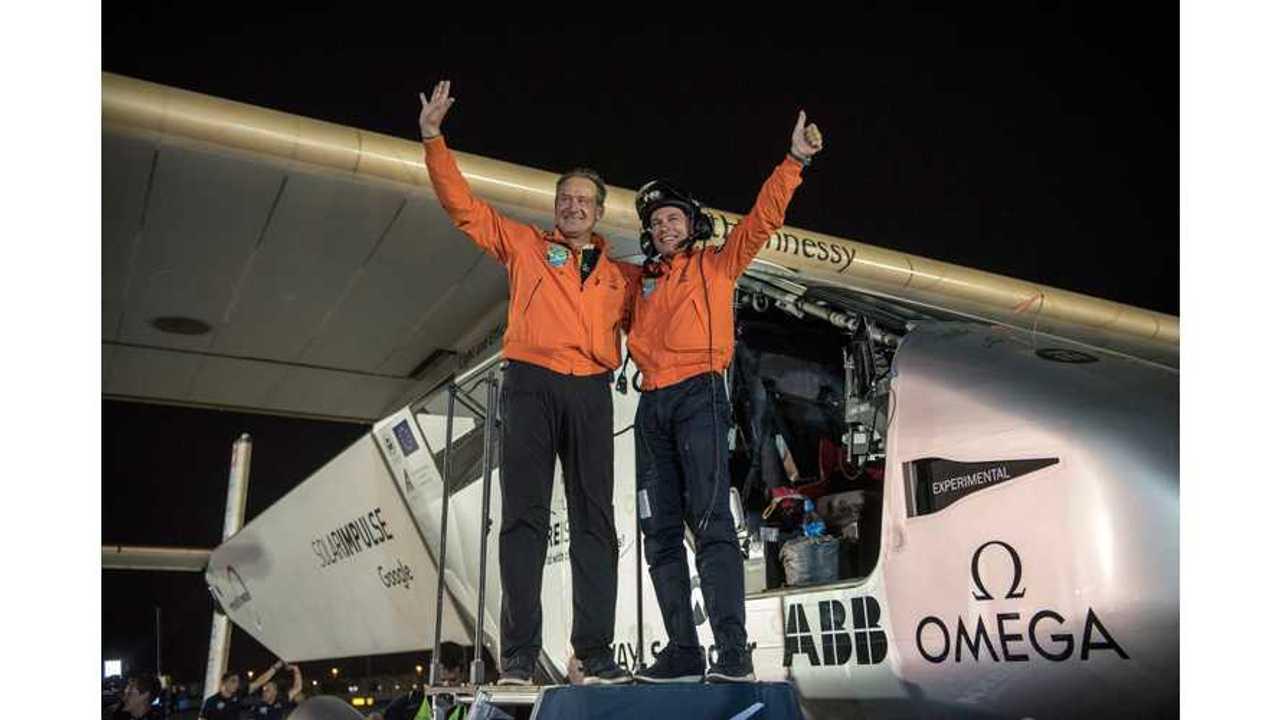 Solar Impulse Landing in Abu Dhabi - Finishing the first Round-the-World solar flight