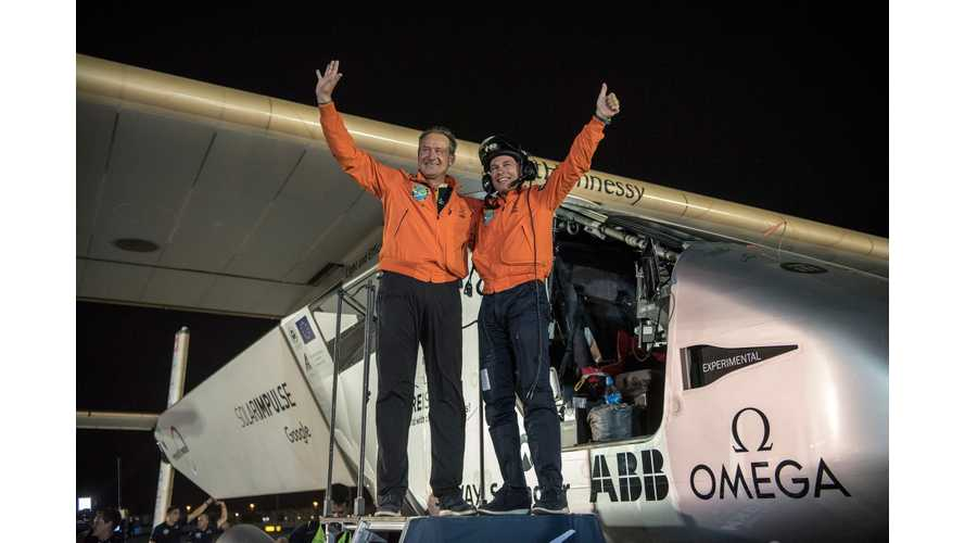 Solar Impulse 2 Completes Round-The-World Flight (w/videos)