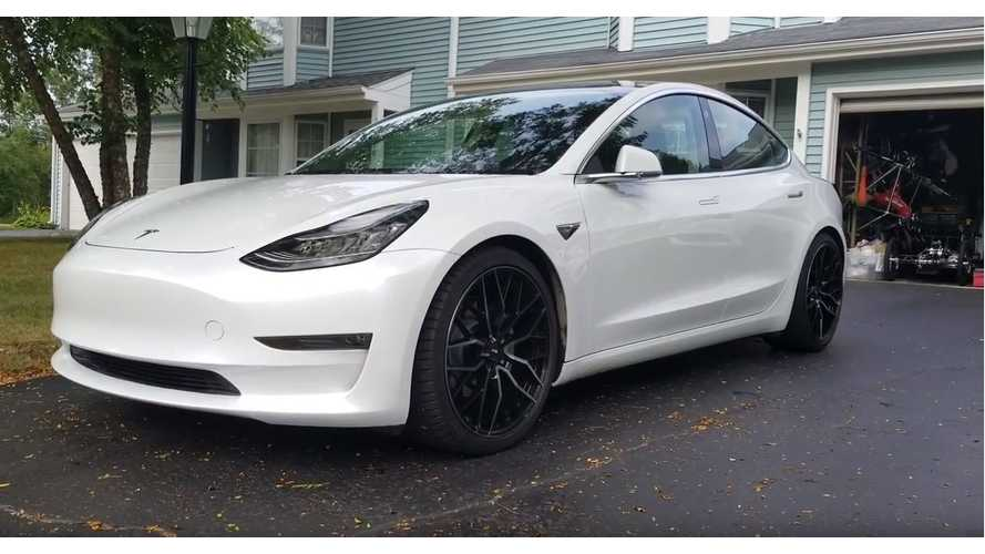Watch A Tesla Model 3 Get Lowered With T Sportline Springs