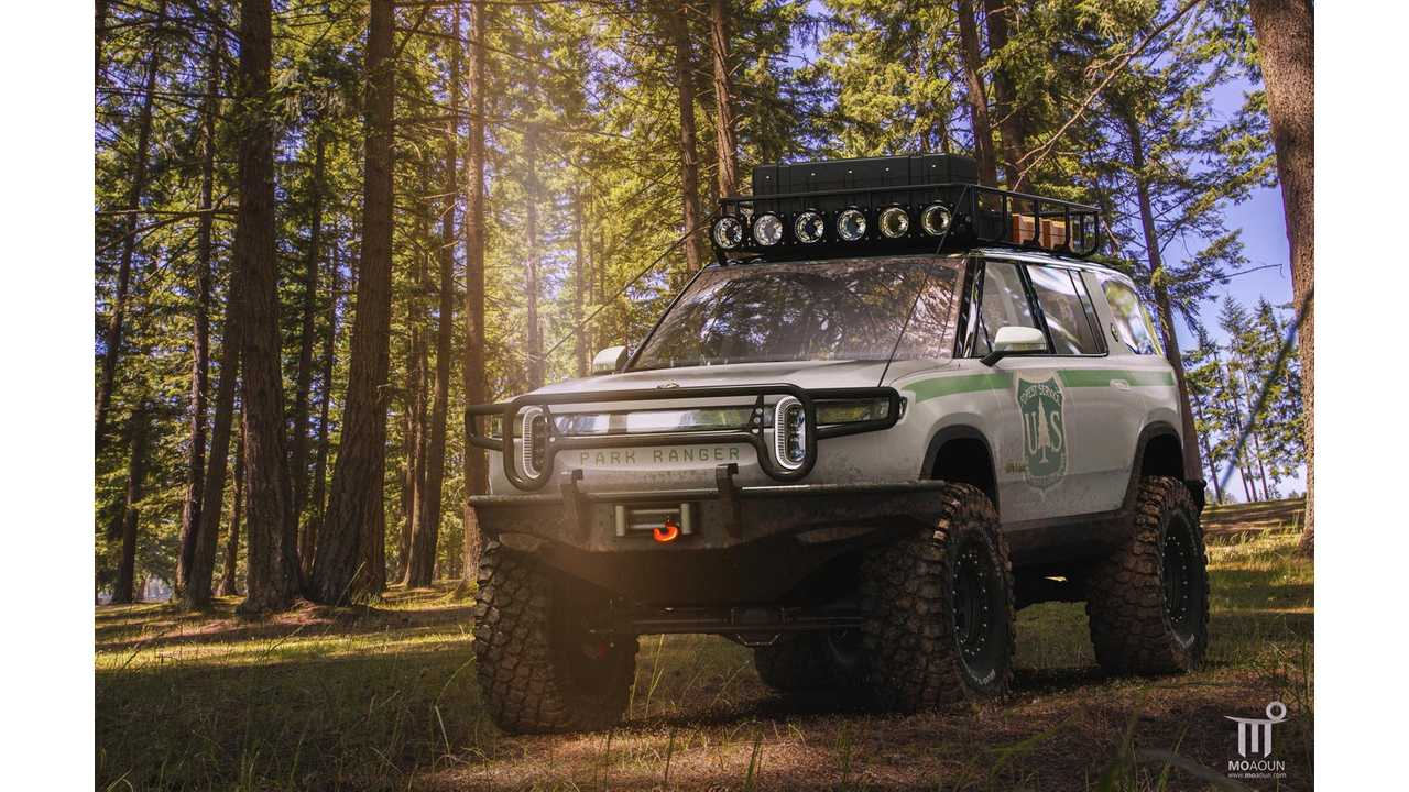 Rivian R1S Electric SUV Rendered As Extreme Off Roader