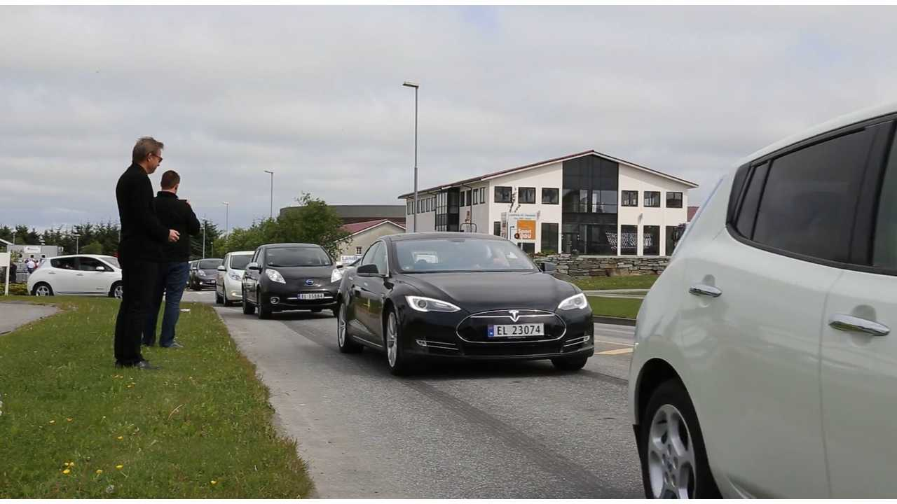 Electric Vehicle Parade in Norway
