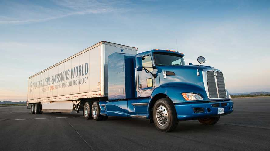 Toyota's Hydrogen Truck Smokes Class 8 Diesel In Drag Race - Video