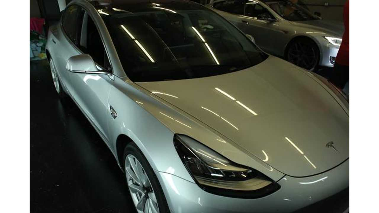 Tesla Opens New Delivery Center Lot Packed With Model 3
