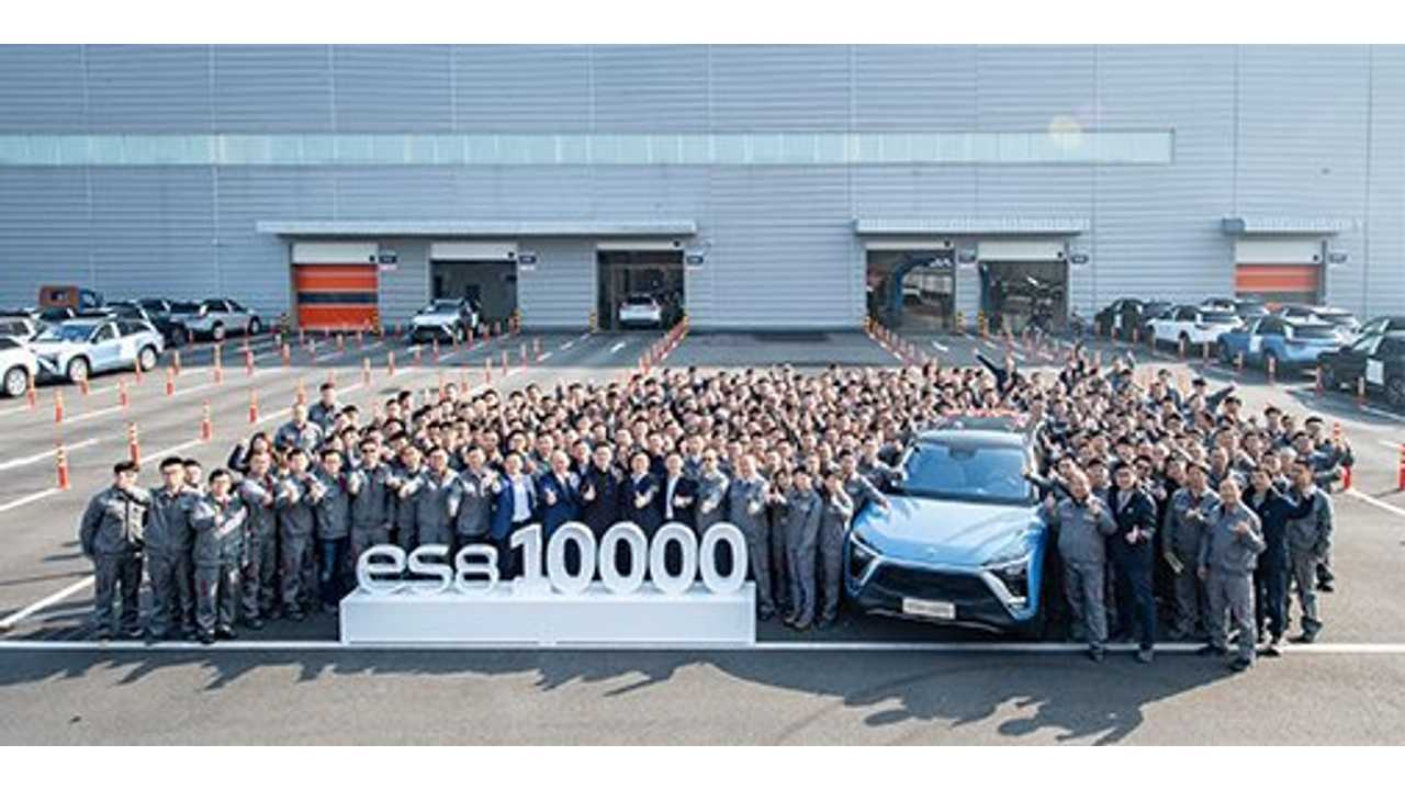 NIO has cumulatively produced over 10,000 ES8 vehicles through the end of November