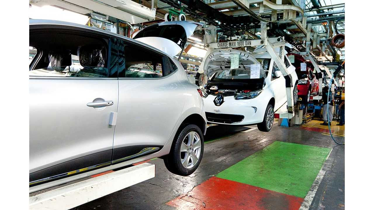 Renault To Increase ZOE Production To 150/Day