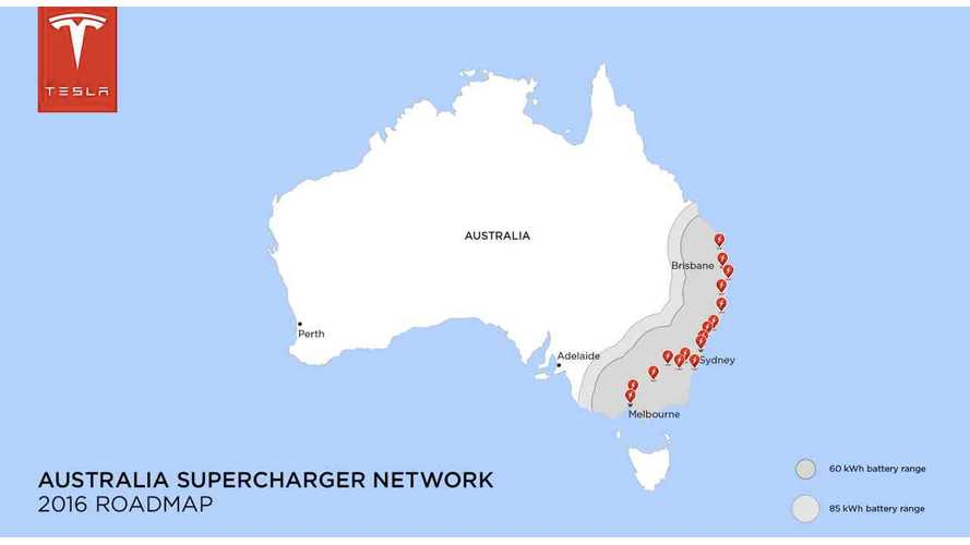 Tesla's First Renewable Energy Powered Supercharger In Australia Comes Online