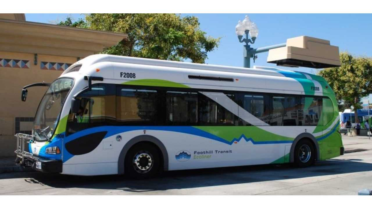 Foothill Transit's Proterra electric bus