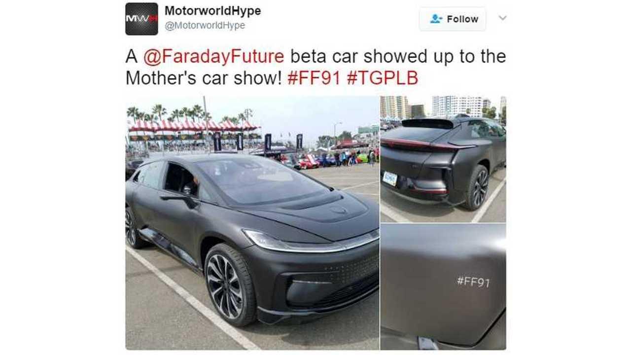 Faraday Future FF 91 Shows Up In Matte Black