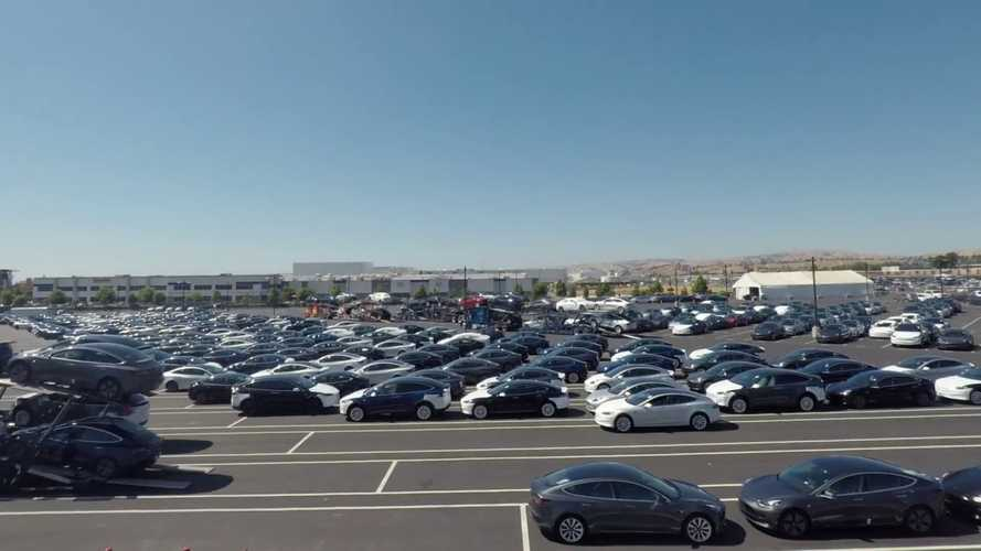 Tesla Posts Video Of Packed Outbound Model 3 Lot