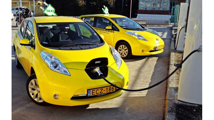 Nissan Is Europe's #1 Electric Taxi Manufacturer