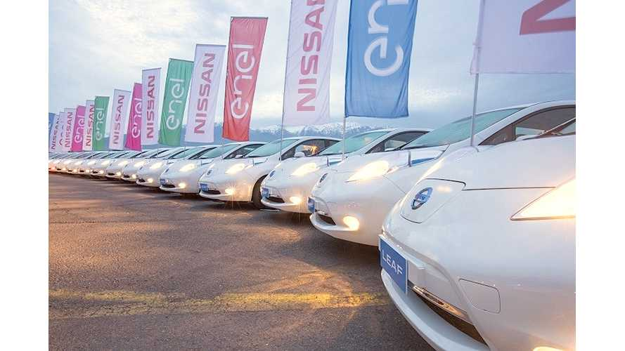 Nissan Delivers 25 LEAFs To Chile's Largest Utility - Enel