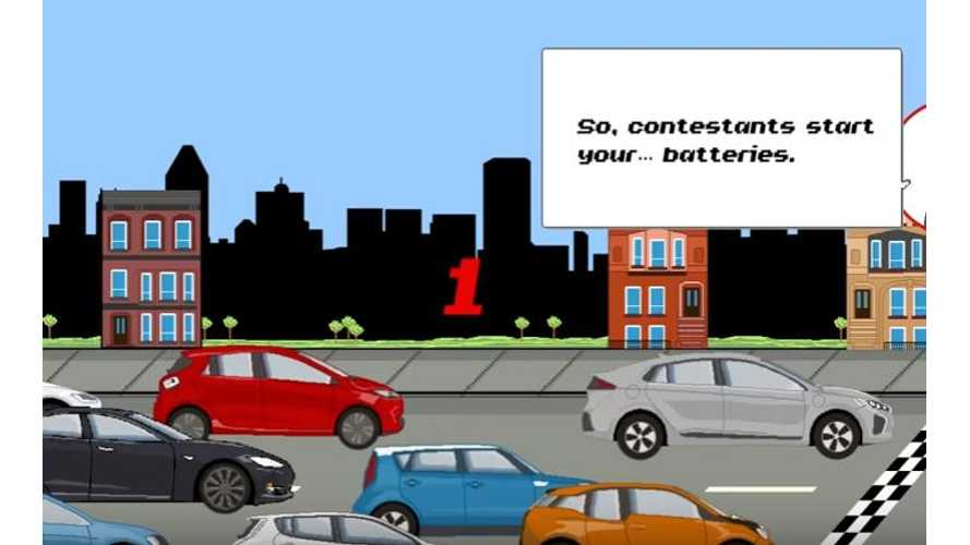 Electric Car Range Race In Amusing Animated Video