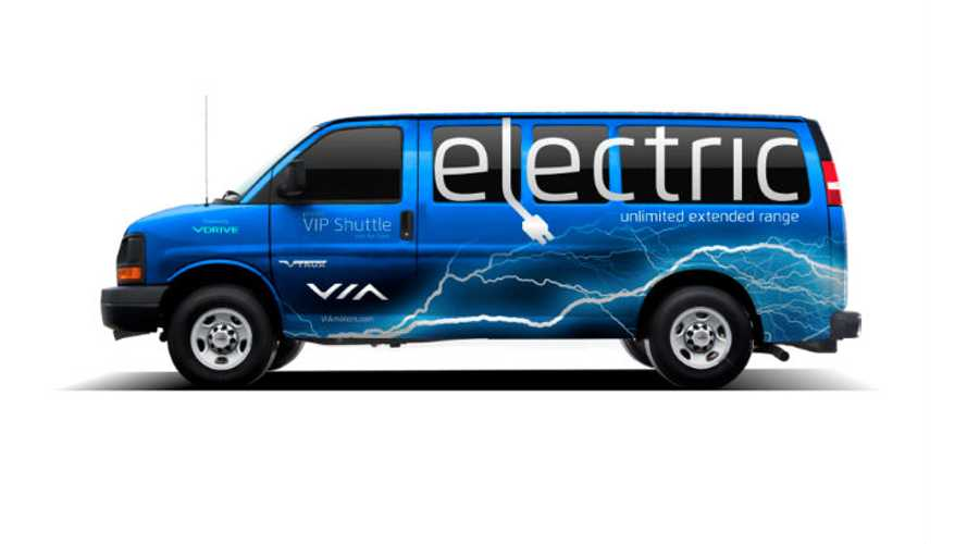 Production Version Of VIA EREV Shuttle Van Debuts