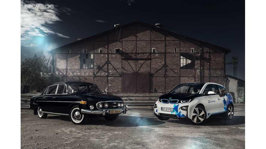 BMW i3 Meets Tatra 603