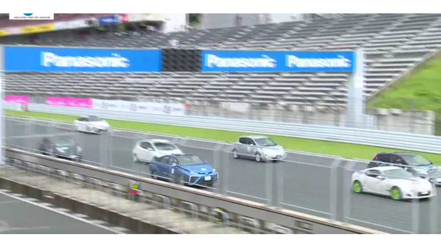 Toyota Mirai Beats Nissan LEAF In Japanese Racing Series (w/video)