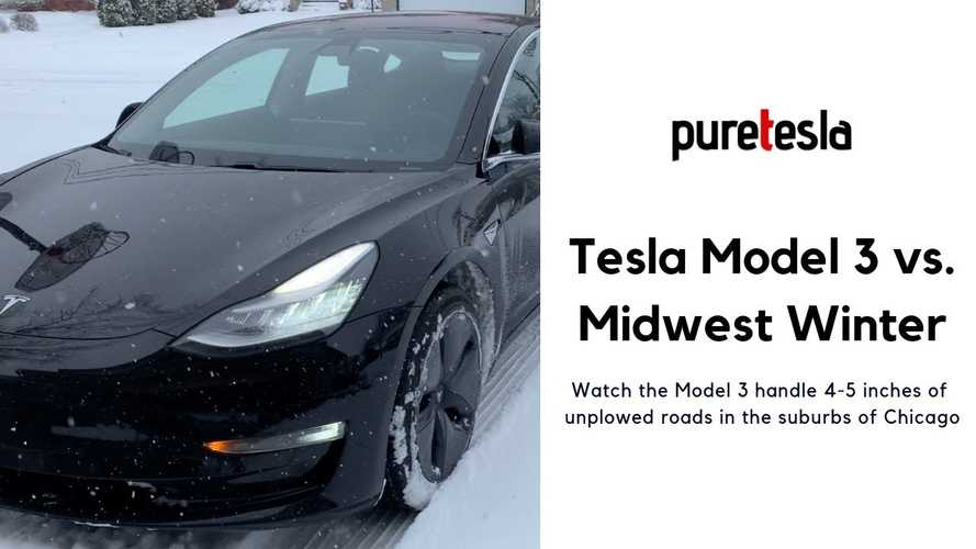 Video: Tesla Model 3 LR, AWD, Stock Tires Vs. Chicago Winter Storm